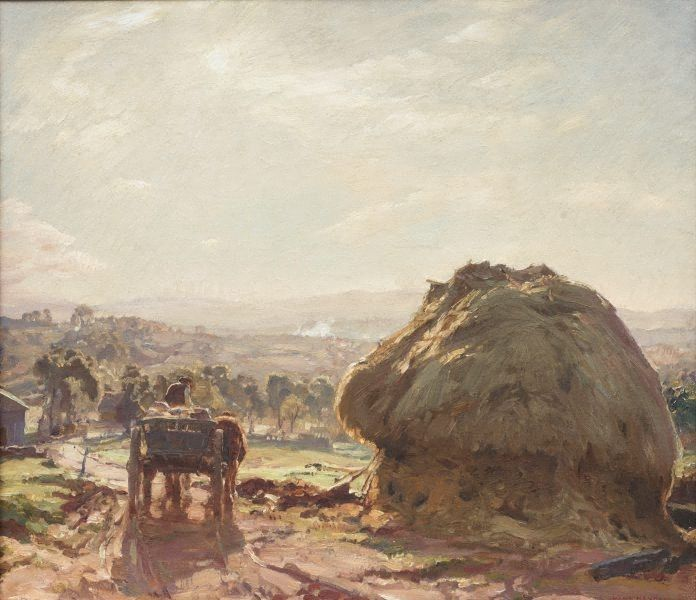 The track to the farm, (1926) by Hans Heysen :: The Collection :: Art Gallery NSW