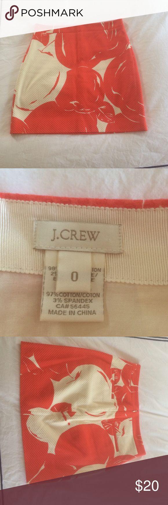 Jcrew postage stamp cherry mini size 0 Worn once zero flaws!  Perfect summer skirt!!! J. Crew Skirts Mini