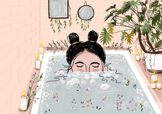 Bath Art Print Bath Artwork Bathroom Art Bath Illustration Etsy Bath Art Relax Wall Art Bathroom Art