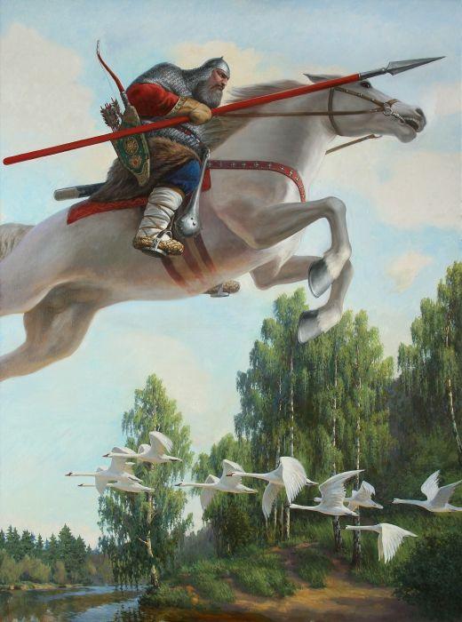 картинки русский витязь на коне