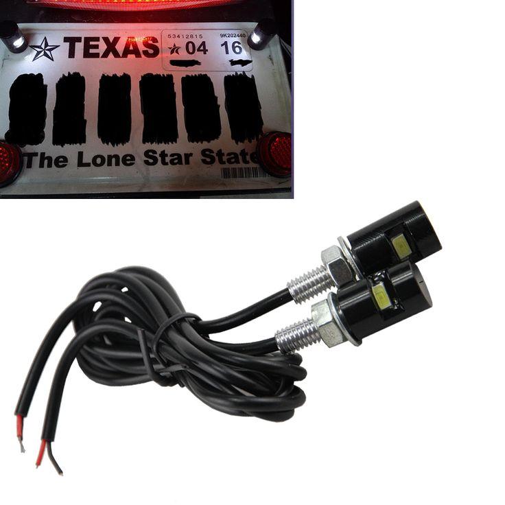 $7.56 (Buy here: https://alitems.com/g/1e8d114494ebda23ff8b16525dc3e8/?i=5&ulp=https%3A%2F%2Fwww.aliexpress.com%2Fitem%2F2x-white-LED-License-Plate-Bolt-Light-Bulb-Lamp-for-Car-Motorcycle-Motorbike-12V-universal-use%2F32450295329.html ) 2 X LED 5730 SMD Motorcycle & Car License Plate Screw Bolt  6000K Xenon White Light bulbs Lamp for just $7.56