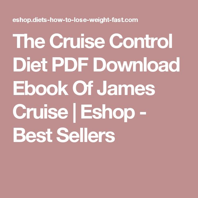 The Cruise Control Diet PDF Download Ebook Of James Cruise | Eshop - Best Sellers