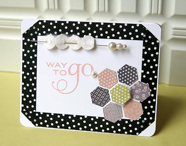 Happy hexagons ; Think big favorites #17 ; Hexagon cover plate ; Eyelet lace border die