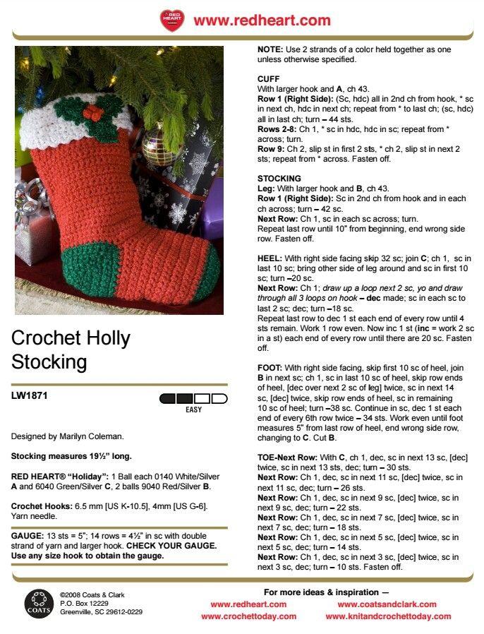 149 best Crochet Christmas #1 images on Pinterest | Crochet ...