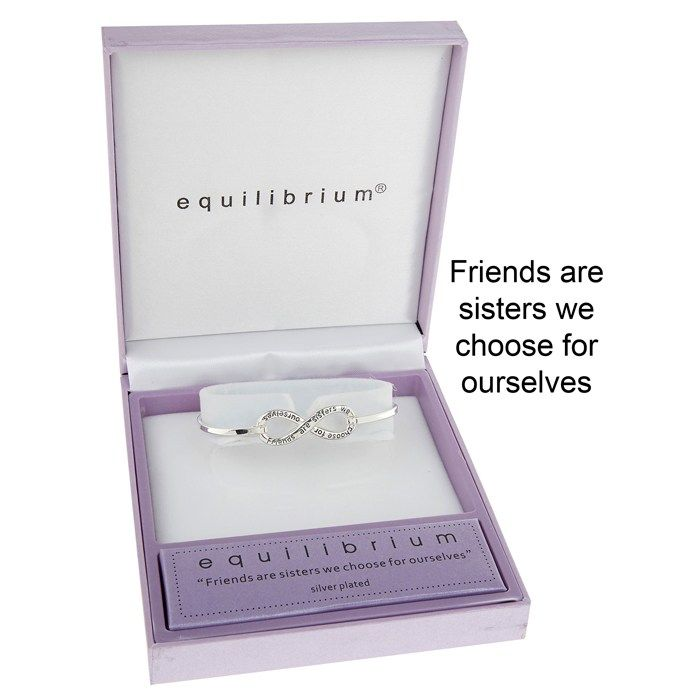 Equilibrium Jewellery - Silver Plated Friends Bangle A2UkQuNmiD