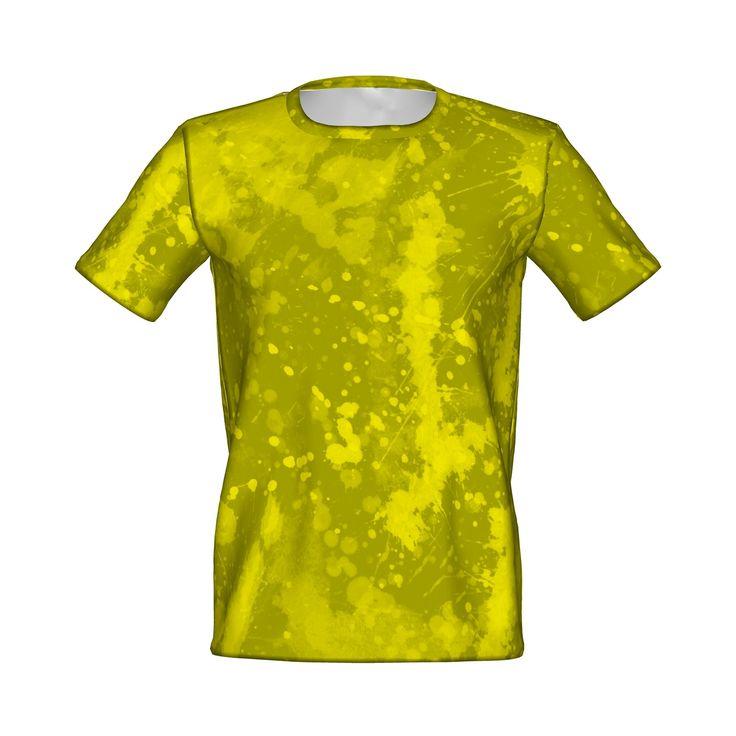 スプラッシュペイントのグラフィックTシャツです。/『ペイント風グラフィックTシャツ 黄』 - 7th Spirits