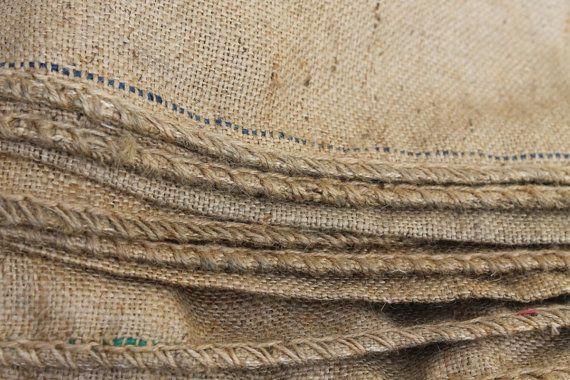 3 rustieke natuurlijke jute zakken jute Vintage door HistoireDAntan