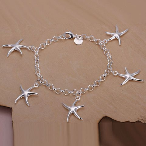 Lexi Starfish Charm bracelet 925 Sterling Silver Plated - Hollywood Sensation
