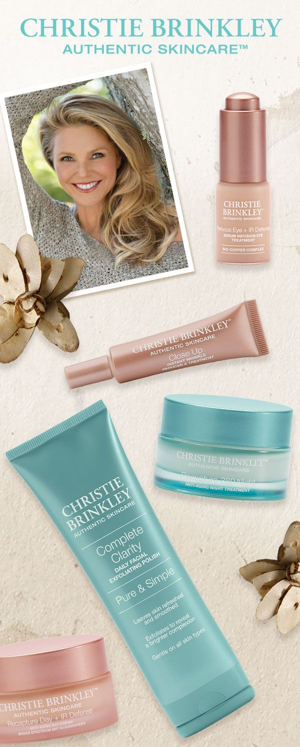 NEW at Soft Surroundings - Christie Brinkley Authentic Skincare!