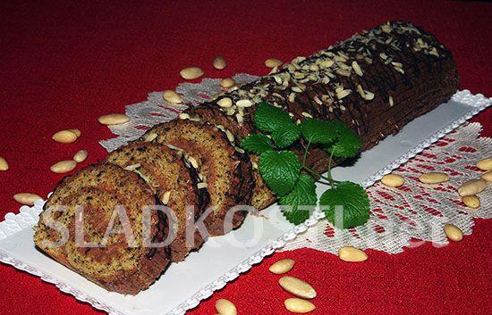 Čokoládová roláda s máslovým krémem