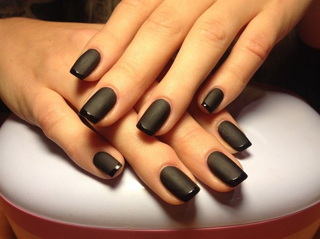 Las 25 mejores ideas sobre manicure franc s negro en - Manicura francesa colores ...