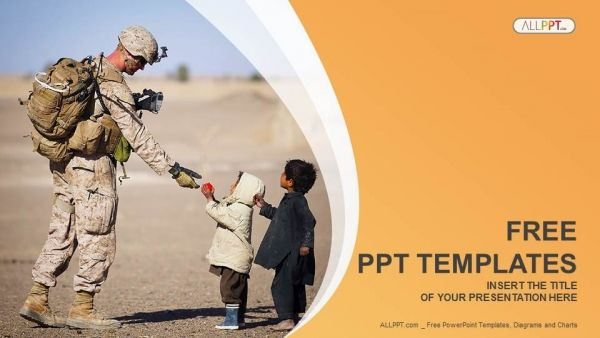 Free Military Service Charity Powerpoint Template The Military Can Be A Place Where Men Or Women Find Purpose Or Str Powerpoint Templates Powerpoint Templates