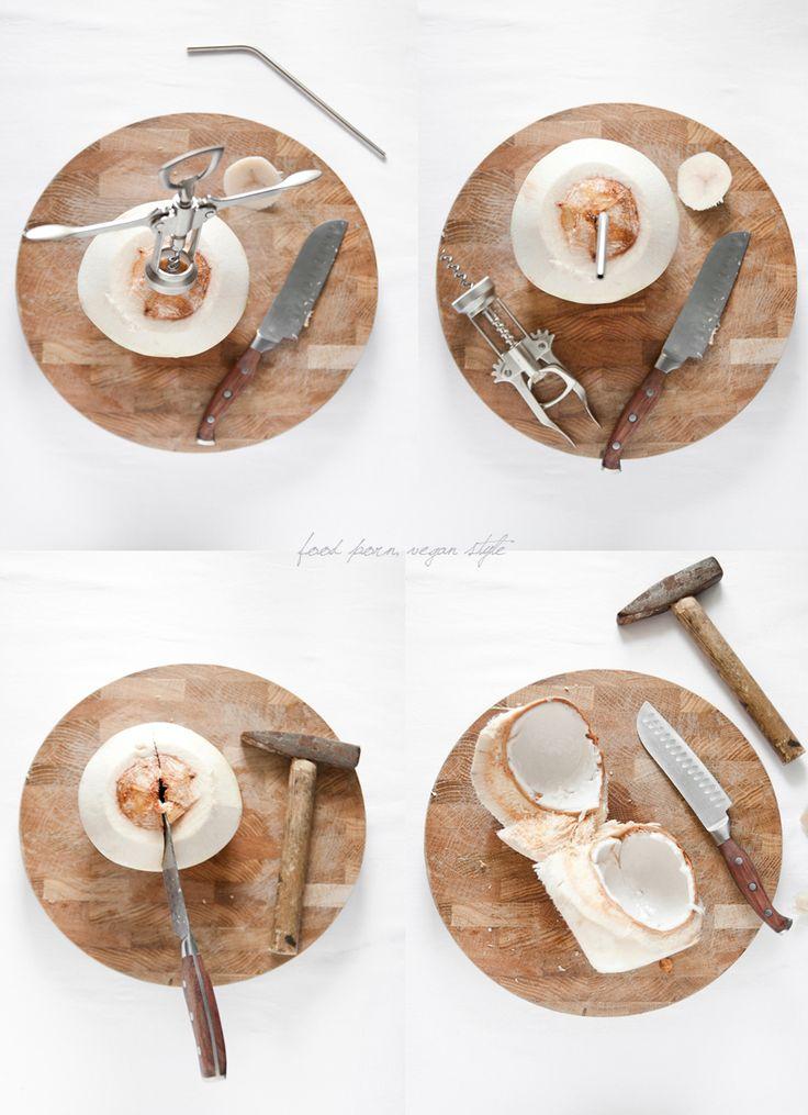 How to open young coconut / Jak otworzyć młodego kokosa