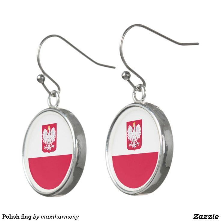 Polish flag earrings