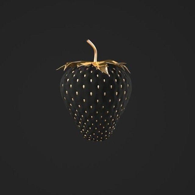Black & Gold Strawberry