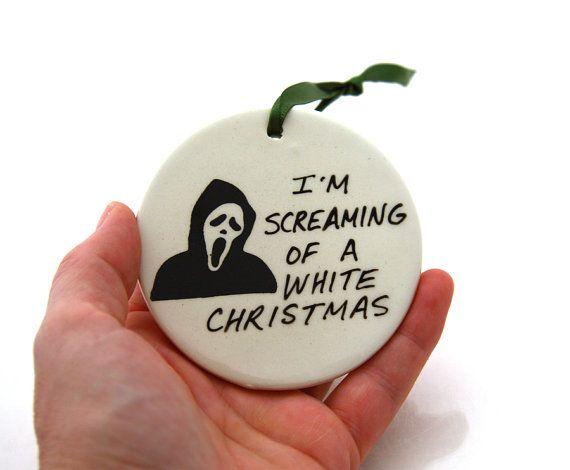 Scream Christmas Ornament   Funny Horror Goth by LennyMud on Etsy, $8.00