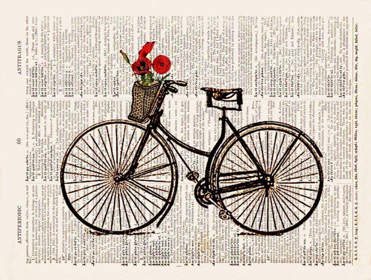 Картинки винтажные велосипеды