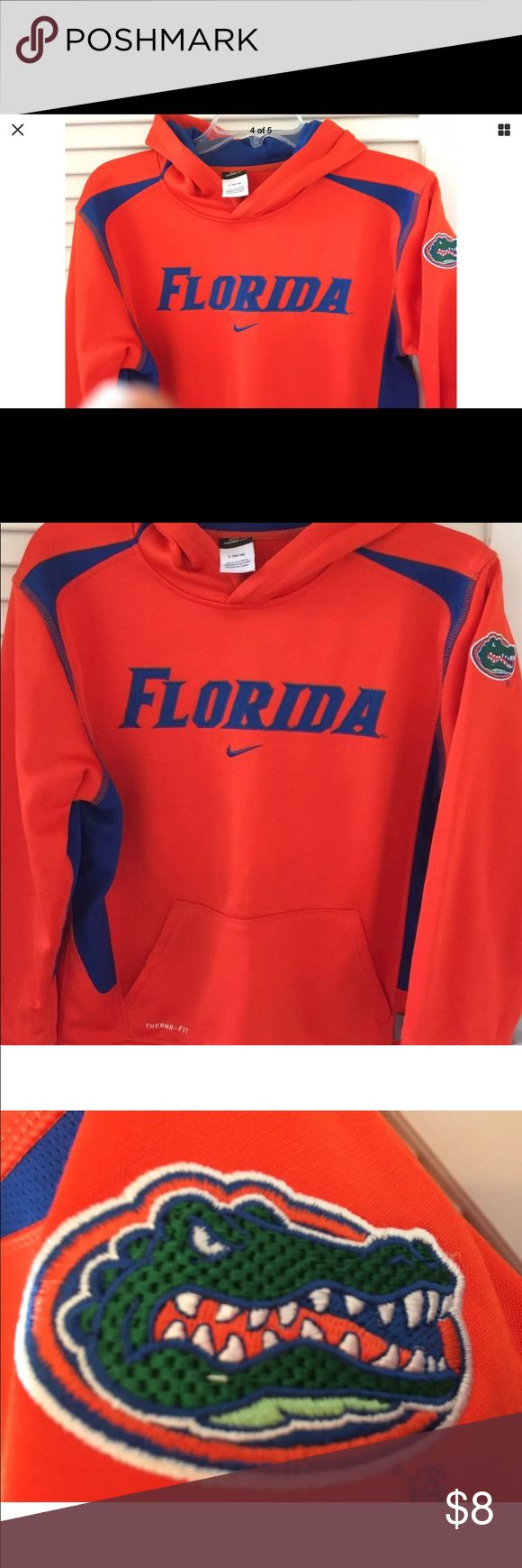 Gators Sweatshirt Ladies Small/ Kids XL Goooo Gators!! Florida sweatshirt Ladies Small/ Kids XL in really good pre owned. Condition. Priced to sell quick.. great fitting - great looking sweat shirt! Tops Sweatshirts & Hoodies