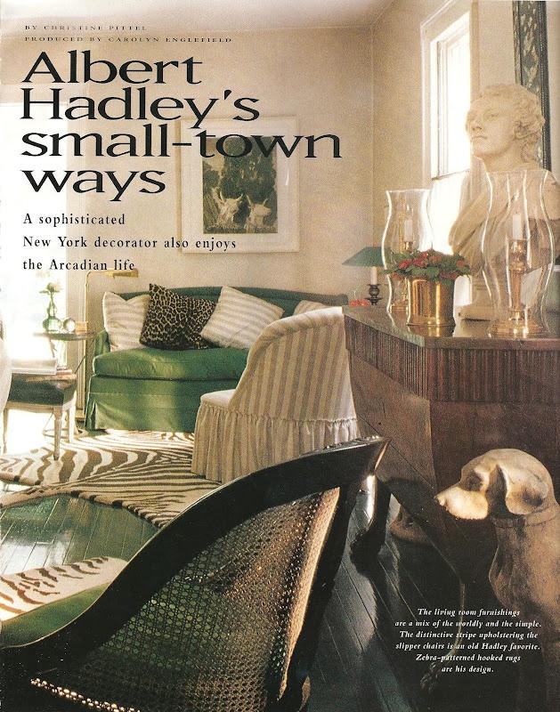 {dF} Duchess Fare: Albert Hadley Remembered
