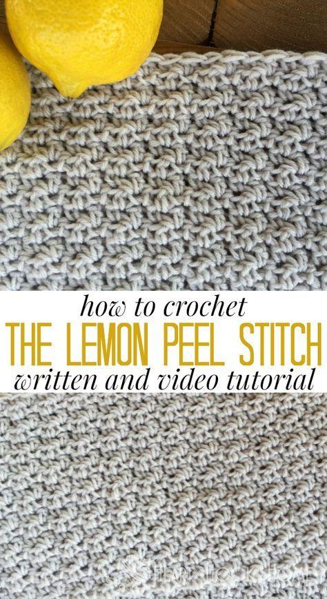 Como Crochetar o Ponto de Casca de Limão
