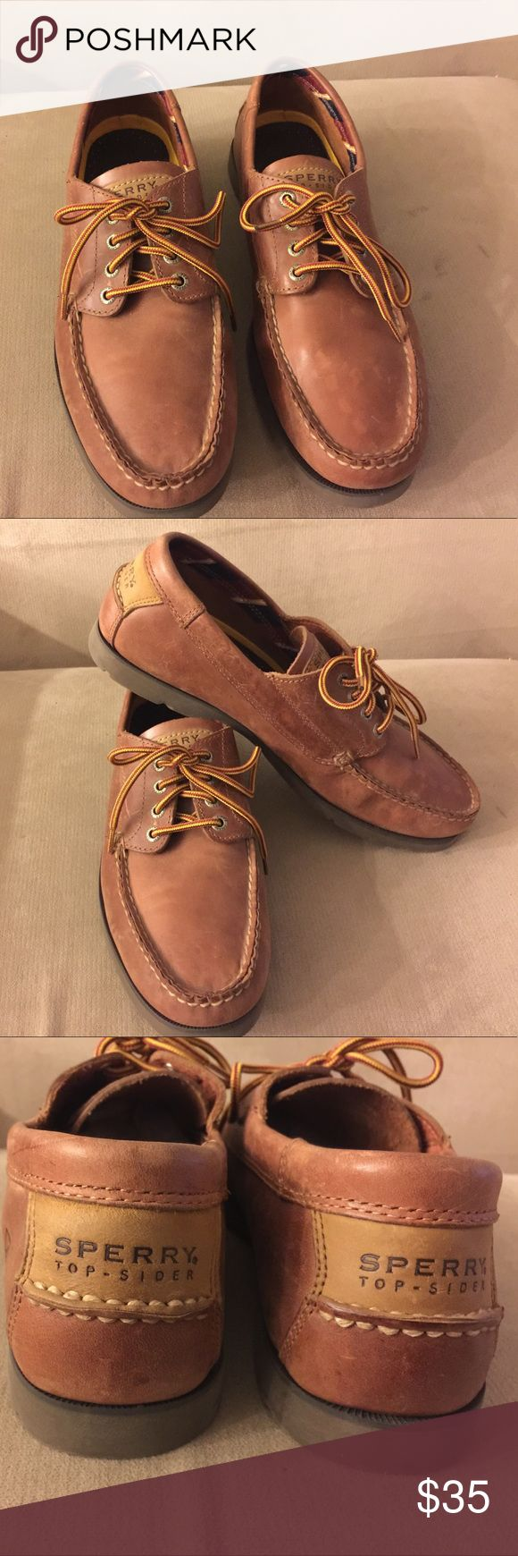 Sperry Top Sider Man's shoes Size 11.5 Used but perfect condition, Lace up, tan color, Leather shoes. Sperry Top-Sider Shoes