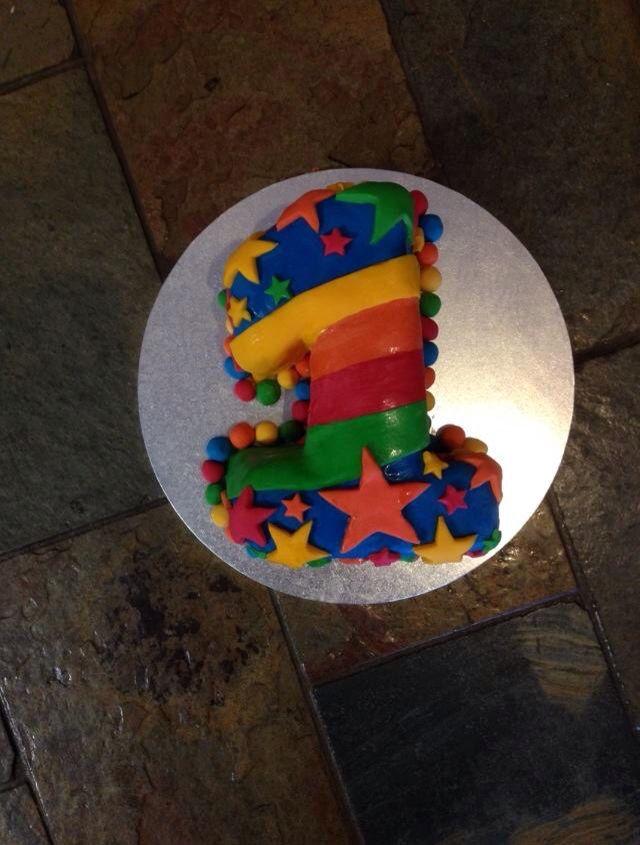 Mitchell's 1st birthday cake