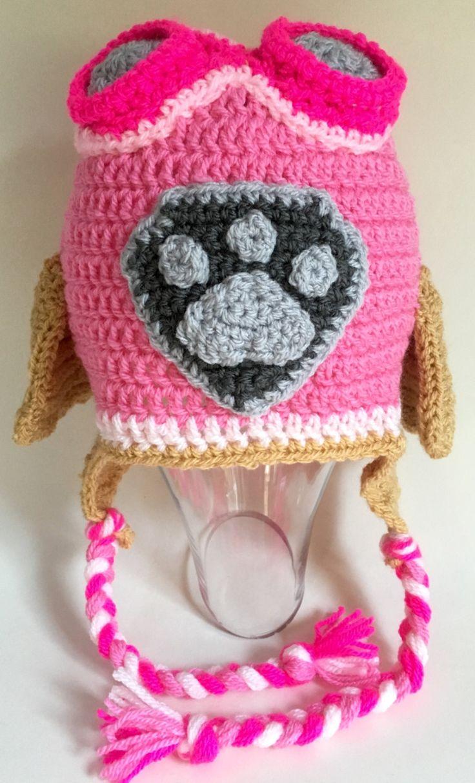 Paw Patrol Inspired crochet hat 'SKYE' by Cocorach on Etsy