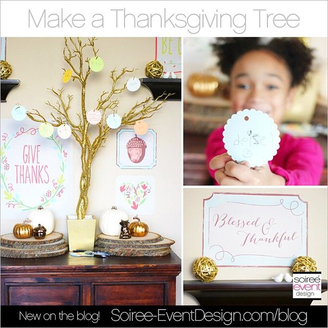 Create a Thanksgiving Tree Display with Removable Wall Decals