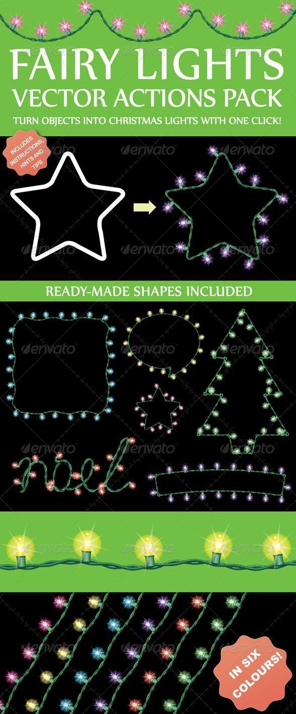 Fairy Light Generator Actions for $6 #illustrator #AdobeIllustrator