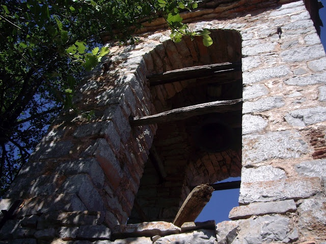 A special construction that holds the church bell, Palio Horio, Paliokerasia, Central Greece.