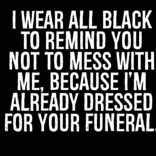 Another good reason to wear black!