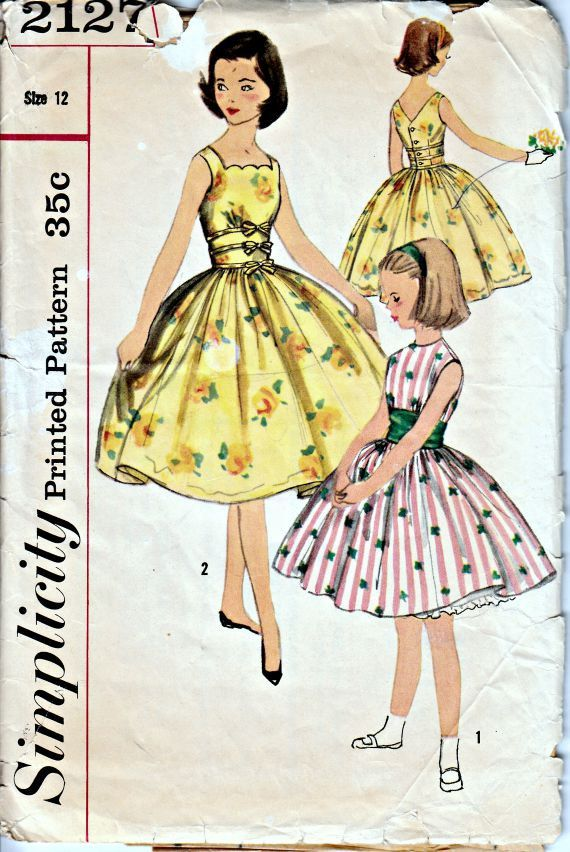 1000  images about VINTAGE 1950-1954 SIMPLICITY PATTERNS on ...