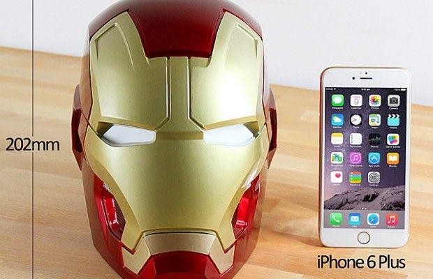 Un casque Iron Man enceinte Bluetooth