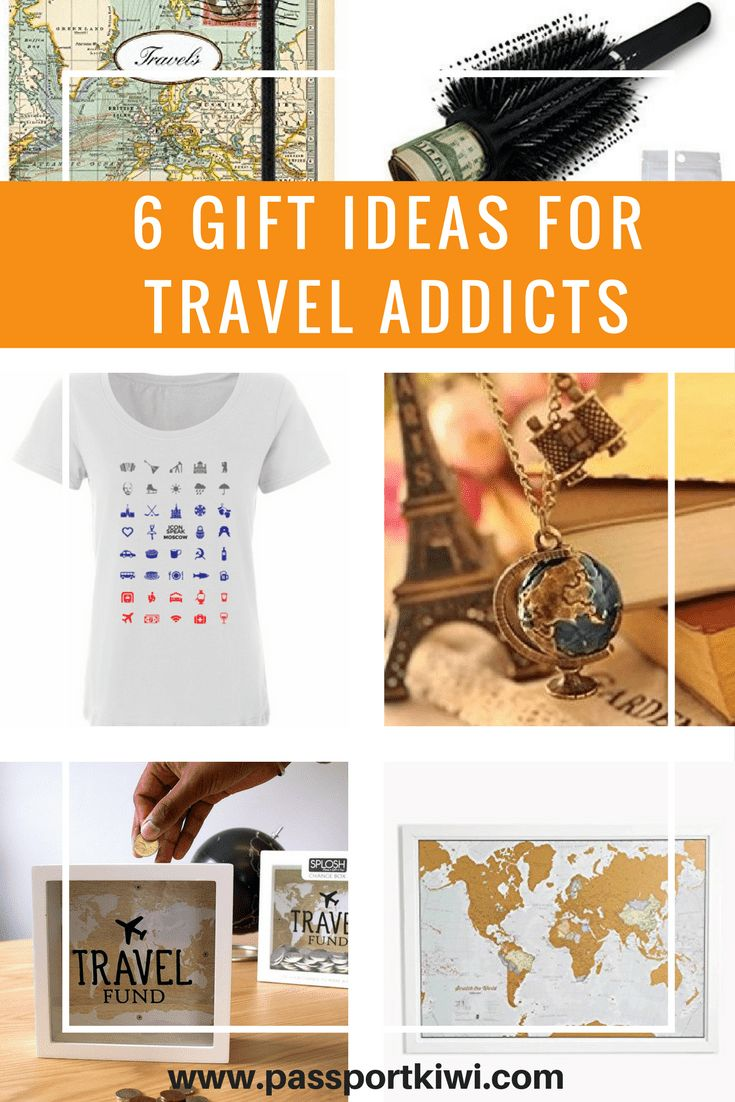 6 Gift Ideas for Travel Addicts! I don't know about you, but I find gift buying to be so difficult. What do they want?? What if they don't like what I get them?? If you're anything like me, you need as many ideas as you can get. So if you have a travel addict in your life, here are 6 gift ideas for travel addicts in your life to get you started. Or if you are a travel addict you can just casually leave this page open where a loved one can conveniently see it