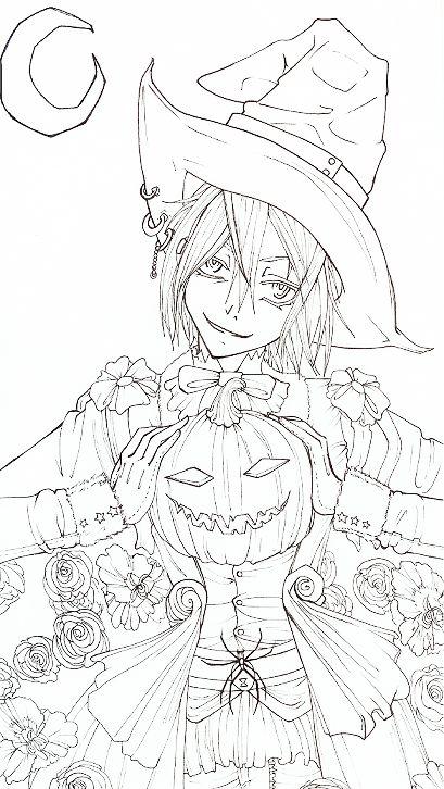 Happy Halloween -lineart- by Rein-Yagami.deviantart.com on @deviantART