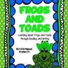 $ This is an all New and Revised ELA CCSS Science Themed Unit about Frogs and Toads. Students will learn about Frogs and Toads through Reading Texts, A Frogs and Toads Fact Sort, Life Cycle Reading and Matching Activities, Amphibian Report Writing, Compare and Contrast Informational Text Writing, Opinion Piece Writing Prompt and more.....