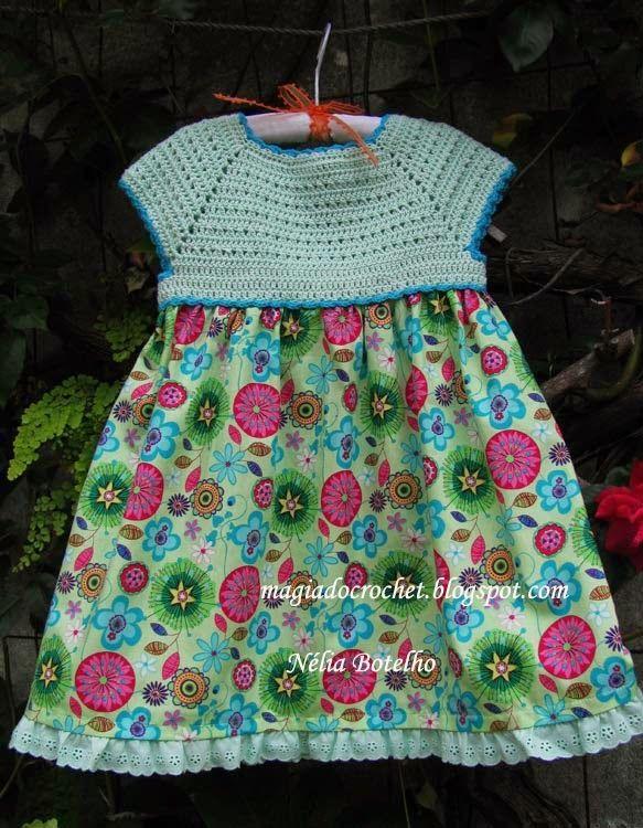 Magia do Crochet: Crochet e costura...continuando os vestidos....