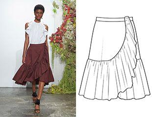 Готовая выкройка летней юбки