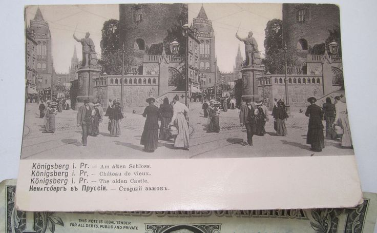 7 x 14 Stereoview Stereo Photo Germany Russia East Prussia Königsberg 1900s