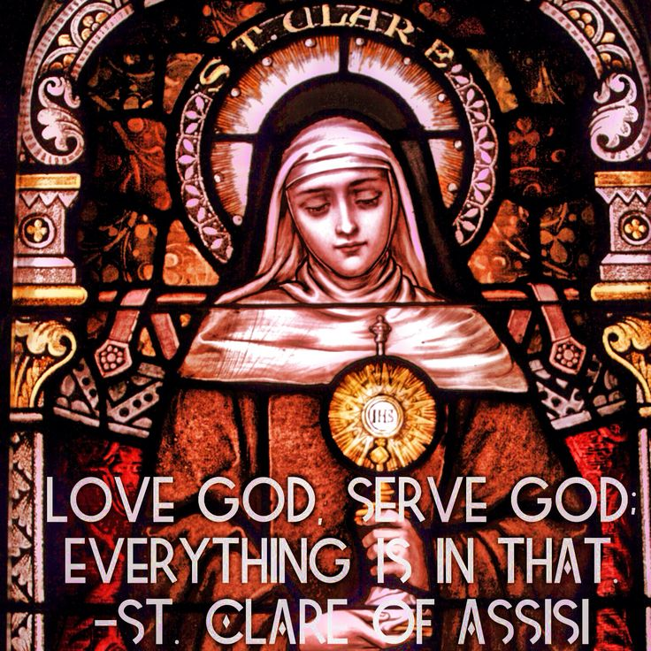 Image result for RULE OF ST CLARE QUOTE