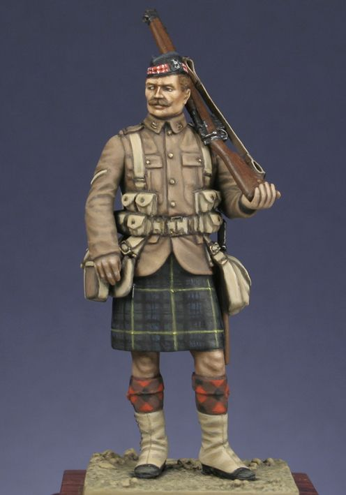 Scottish infantryman of Gordon highlanders 1914.