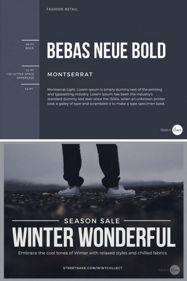Canva Design // ultimate guide to font pairing // Bebas Neue Bold, Montserrat, Montserrat Light // auto shop