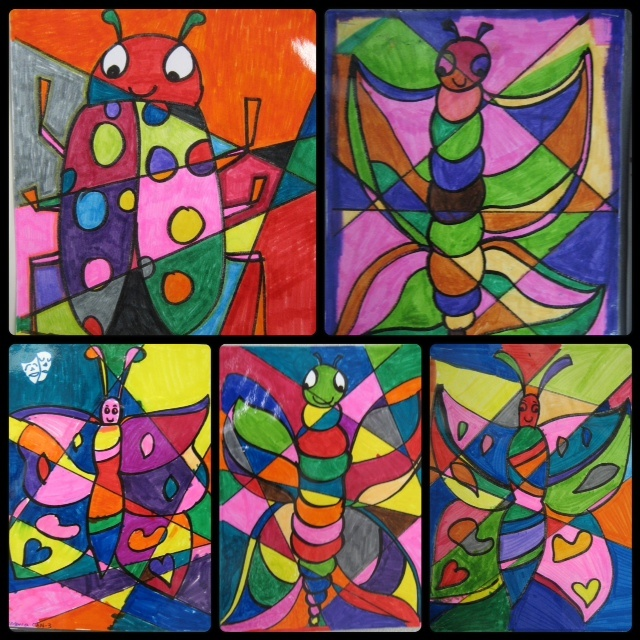 Art & Science - stained glass art lesson - special ed