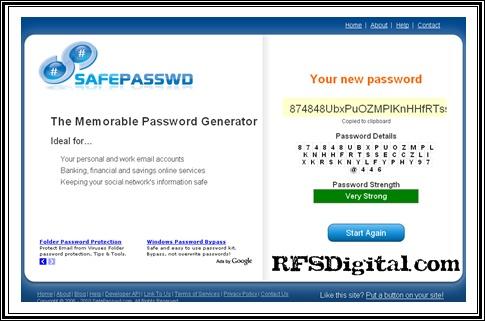Safepasswd: Generador de contraseñas seguras