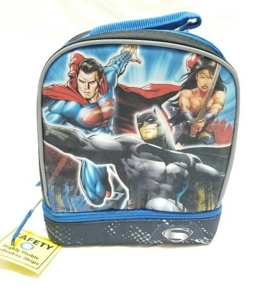 DC Batman V Superman:Dawn Of Justice Insulated Lunch Bag Dual Compartment, NWT #DC #LunchBag