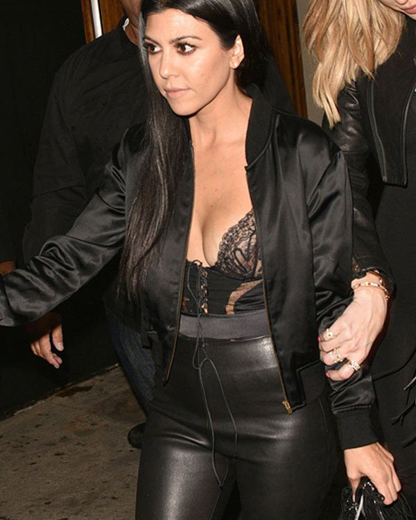 Kourtney Kardashian Suffers Nip Slip In Lacy Corset Top
