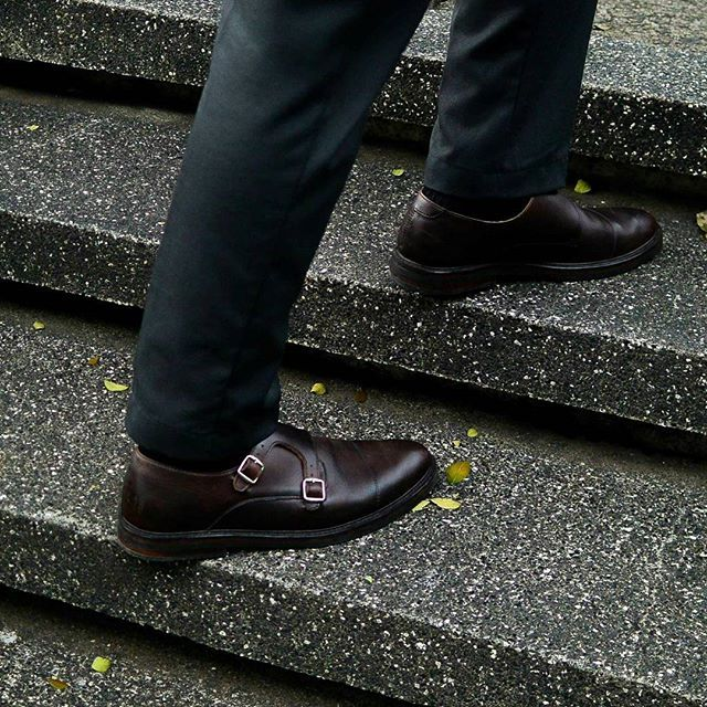 """"""" Every man need a suit and formal shoe """" In frame : Monk Strap with Prototype Last 102 Price 1850k  Join our Campaign OOTD contest with your Chevalier. Don't forget to TAG us and put hashtag #chevalierfit. Win 1 Million CASH for the winner.  #chevalier #oxford #monkstrap #unisex #handmade #craft #shoes #vsco #leathershoes #dailyessential #formal #suit #dress #elegant"""