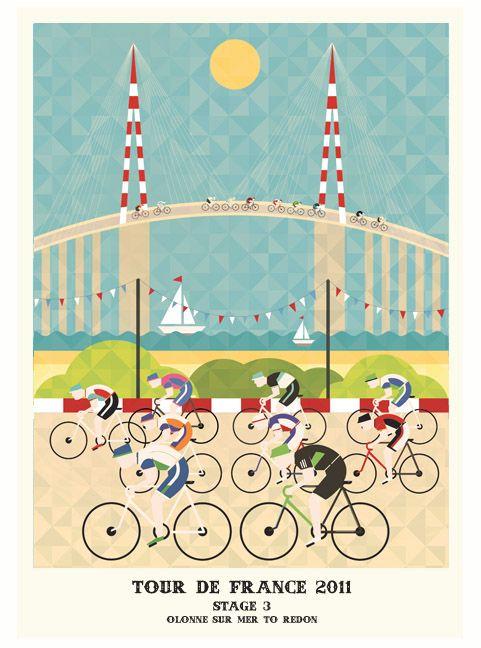 My Modern Met: Lovely Tour de France Poster Series