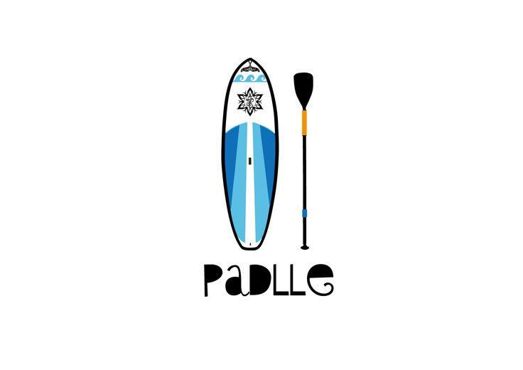 Ilustration, Padlle, Surf, Board, Adventure, Illustrator