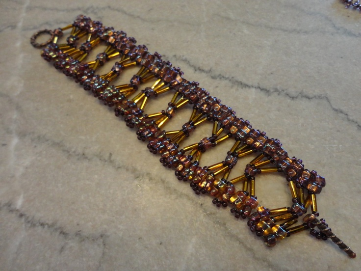 how to make a bugle bead bracelet